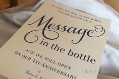Wedding Guest Book Beach, Message In The Bottle, Alternative Guest Book, Beach Wedding