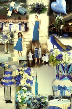 el azul como tema principal de la decoracion