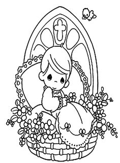 Printable Precious Moments Coloring Pages - Precious Moments cartoon coloring pages