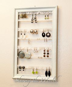 Vintage Earring Holder How-To.