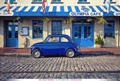 "webbbland: "" 1972 Fiat 500. Savannah, GA. Now this is a small car. """