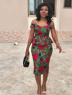 Your favourite collection of ankara -skirt and blouse styles and designs. When you look for ankara skirt and blouse styles this is where to come African Print Dresses, African Print Fashion, Africa Fashion, African Fashion Dresses, African Attire, African Wear, African Women, African Dress, African Style