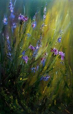 Risultati immagini per pinturas con flores azules gran des Abstract Landscape, Landscape Paintings, Desert Landscape, Abstract Oil, Pintura Graffiti, Pastel Art, Acrylic Art, Beautiful Paintings, Flower Art