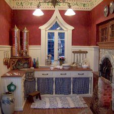 The kitchen of The Gingerbread Kitchen – A part of the Kathleen Savage Browning Miniatures Collection in Maysville, Kentucky