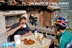 Not only Mountain Bike in Livigno but also traditions. And Marco Fontana had a good bite of them!
