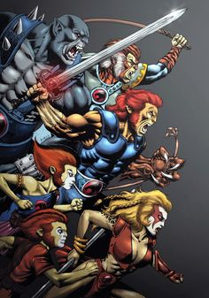 The Thundercats: my favorite cartoon of all time and another source of inspiration for COTP Cartoon Shows, Cartoon Art, Cartoon Characters, Old School Cartoons, 90s Cartoons, Comic Books Art, Comic Art, Gi Joe, He Man Thundercats