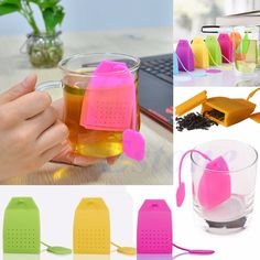 Creative Silicone Tea Strainer Herbal Spice Infuser Filter Diffuser Bag Shaped #Unbranded