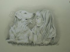 Exemple de portrait au crayon, réalisé sur commande. Info : www.virginiewibaux.com