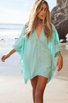 Fashion V-neck Bikini Beach Cover Up 2 Color Options One Size
