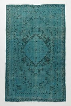 (This is from Anthropologie for $2998.00)  Buy Cheap Garage Sale Rug And Dye It!