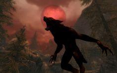 Skyrim, werewolf transformation under full moon Werewolf Art, Werewolf Vs Vampire, Skyrim Serana, Dragonborn Skyrim, Elder Scrolls V Skyrim, Elder Scrolls Online, Medieval Fantasy, Monsters, Rpg
