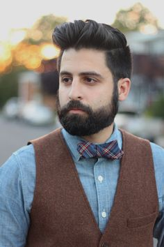 Image result for bow tie and vest look