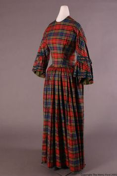 dress ca. 1857-1859 via The Henry Ford Costume Collection