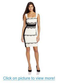Jax Women's Sleeveless Banded and Lace Dress