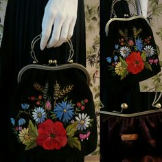 Handembroidered shoulderbag for her. Luxurious embroidery. Facebook /muhumuster