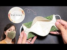 Easy Face Masks, Homemade Face Masks, Diy Face Mask, Small Sewing Projects, Sewing Hacks, Sewing Tutorials, Crochet Projects, Diy Projects, Fabric Crafts