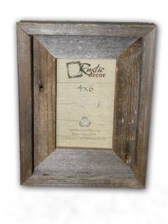 Amazon.com - 4x6 Natural Barnwood Signature Photo Frame (Would like four of these)