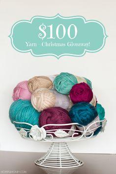 Christmas Giveaway - $100 Yarn!