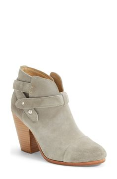 These grey suede booties will look gorgeous with jeans and a tee.