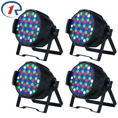ZjRighrt 4pc/lot 30W 4 in 1 54 LED Par light Sound control DMX512 profession stage light Music concert effect bar disco dj light