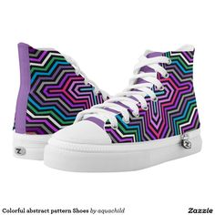 Colorful abstract pattern Shoes Printed Shoes