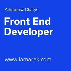 My portfolio: www.iamarek.com  See also my blog at www.iamarek.com/blog  #HTML #HTML5 #CSS #CSS3 #Saas #JavaScript #jQuery #Jekyll #Webdesign #Design #Portfolio #FrontEndDeveloper #Remote #RemoteWork #RemoteWorking #Freelance