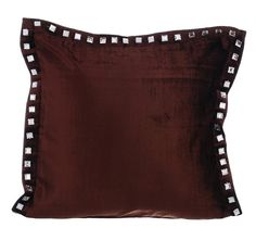 Brown Couch Cushion Covers 16 x 16 Pillow Covers by TheHomeCentric