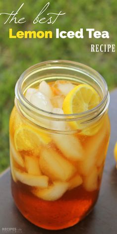 How to Make the BEST Lemon Iced Tea with Vitality Essential Oils! This recipe is a vibrant punch of flavor on a hot summer's day.   RecipeswithEssentialOils.com