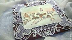 """Купить Пряничная открытка """"Старый Новый год"""" - белый, пряник, пряничная открытка, Новый Год"""
