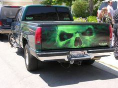 skulls airbrushed on tailgate - Google Search