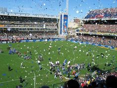 Boca Juniors match, Buenos Aires, Argentina. Great atmosphere
