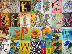 Art History Alphabet created by sillybookworm.deviantart.com Quotes: Cave Art A: Egyptian B: Greek pottery C: Indian D: Chinese fan E: Japanese F: Islamic  G: African H: Early Christian I: Medieval J: Byzantine K: Gothic L: Renaissance M: Rococco N: Baroque O: Impressionism P: Pointillism Q: Post- Impressionism R: Cubism S: Fauvism T: Art Deco U: Art Nouveau V: Surrealism W: dadaism :) X: Op art Y: Pop art Z: Contemporary (Chuck Close) Quotes: Expressionism