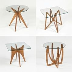 #LGB #Interiors  Dock 312 Side Tables - Flat packed and made of glass and bamboo plywood