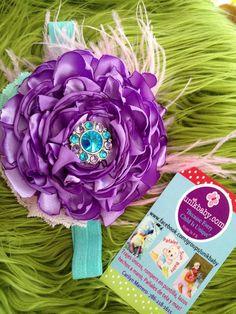Vintage Inspired Blooming Purple Lavender Pink Satin by Unikbaby, $15.00
