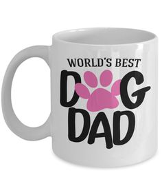 World's best dog dad! This coffee mug makes a perfect gift for dads, dog lovers or dog owners. | Gift Idea for Dog Lovers