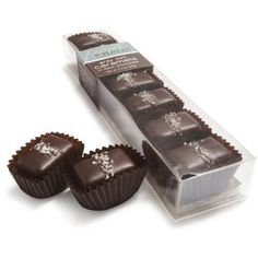 Fran's Chocolates Gray Salt Caramels in Dark Chocolate - 7 piece box - http://bestchocolateshop.com/frans-chocolates-gray-salt-caramels-in-dark-chocolate-7-piece-box/