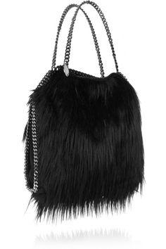 Stella McCartney | The Falabella faux fur shoulder bag | NET-A-PORTER.COM