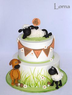 Sheep Shaun - Cake by Lorna