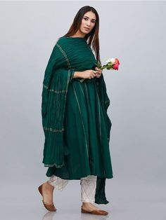 Add a Charm to your Wardrobe with the best combination of Suit Sets - Hand Printed & hand embroidered in the perfect cottons & Silks. Pakistani Dress Design, Pakistani Dresses, Indian Dresses, Indian Outfits, Cotton Dress Indian, Dress Indian Style, Cotton Dresses, Churidar, Anarkali