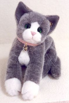 """Cat Sewing Pattern 14 inch long """"Socks"""" Kitten with jointed head. $8.25, via Etsy."""