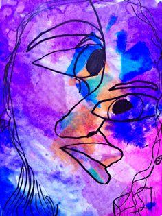 MaryMaking: Cubist Portraits with Bleeding Tissue Kimmy Cantrell, Cubist Portraits, Large Cardboard Boxes, Unique Faces, Cubism, Teaching Art, Art Techniques, Art School, Art Lessons