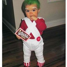 So dressing up my two little ones like this for Halloween this year.  Then I could have my oldest dressed as Willy Wonka :)