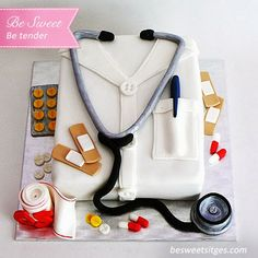 Pastel de Fondant ¡Un brillante médico! ~ Be Sweet: reposteria creativa