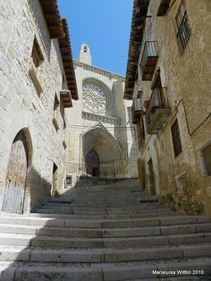 stairs to heaven-cathedral of Valderrobres by Marlis1, via Flickr