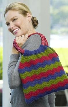 Wavy Shoulder Bag Knitting Pattern