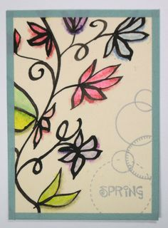 Original Floral ACEO Spring Handmade One of a Kind by wiggelhevin