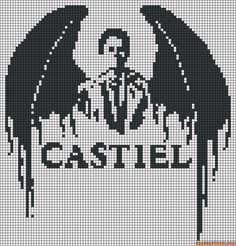 Castiel from Supernatural Perler Bead Pattern