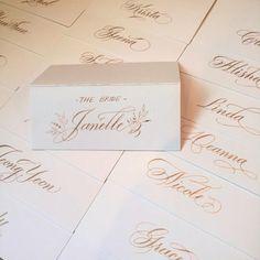 Bridal Shower Name Cards