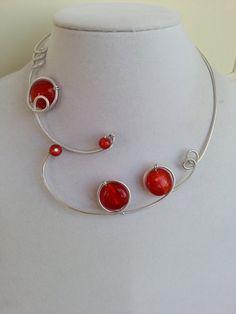 Red jewelry Prom jewelry Wedding jewelry par LesBijouxLibellule