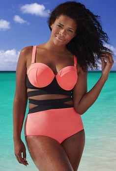 da6c6246ed GabiFresh The Electress UltraPink D DD Underwire Bikini Curvy Swimwear